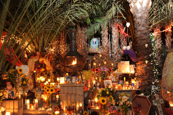 ofrenda and ceremonial fire